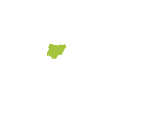 Africa Map with Nigeria Highlighted